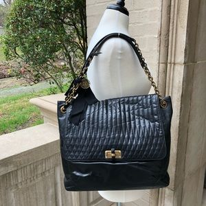 ⭐️[Lanvin] HAPPY Quilted Large Leather Tote